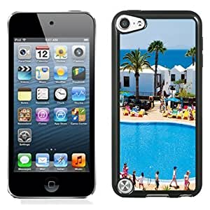 NEW Unique Custom Designed iPod Touch 5 Phone Case With Holiday Village Flamingo Beach_Black Phone Case
