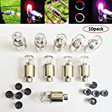 Kyпить Huston Lowell Good Values Pack of 10 Awesome Super Cool Led Flash Tyre Wheel Valve Cap Light for Car Bike Bicycle Motorbicycle Wheel Light Tire Lights (RGB) (RGB) на Amazon.com