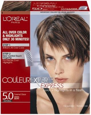 L'Oreal Couleur Experte Express Hair Color & Highlights - #5 Medium Brown/Caramel Glaze (Pack of 3)