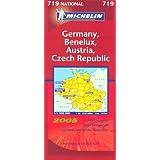 Germany, Austria, Benelux and Czech Republic 2005 (Michelin National Maps)