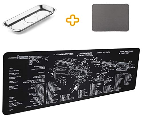 Gun Cleaning Mat Pad (36.2 by 12.2 inchs)- with Magnetic