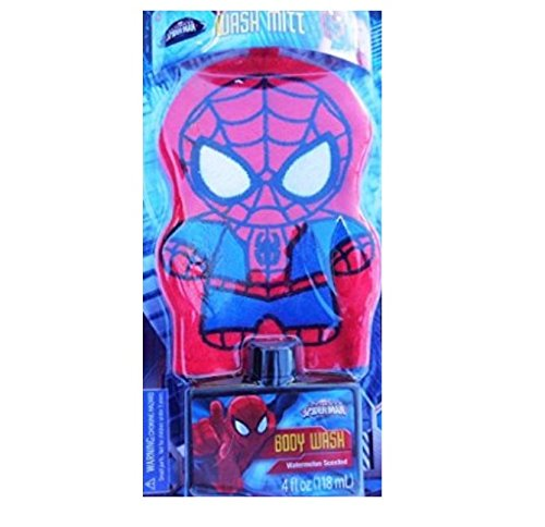 Spider-Man Embroidered Wash Bath Mitt - 2 Piece Set