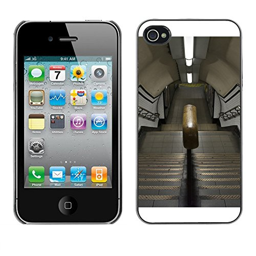 Premio Sottile Slim Cassa Custodia Case Cover Shell // F00030768 escalier Metro // Apple iPhone 4 4S 4G