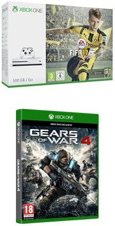 Xbox One - Consola S 500 GB + FIFA 17 + Gears Of War 4: Amazon.es: Videojuegos