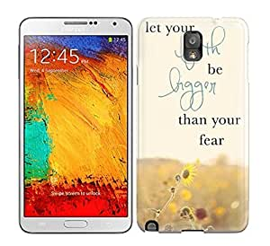 Hot Snap-on Let Your Faith Be Bigger Than Your Fear Hard Cover Case/ Protective Case For Galaxy Note 3