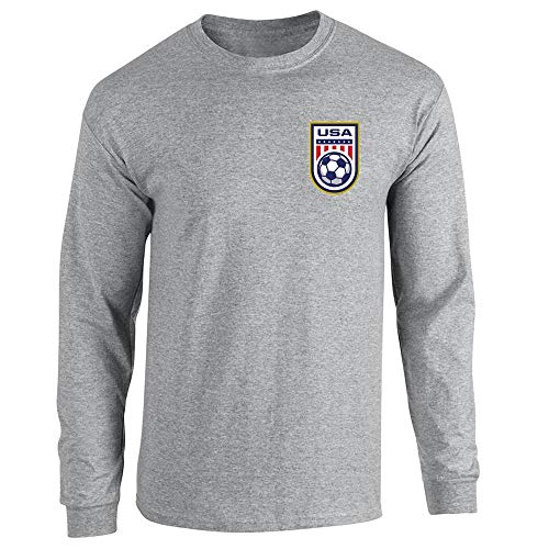 - USA Soccer Retro National Team Jersey Sport Grey S Long Sleeve T-Shirt
