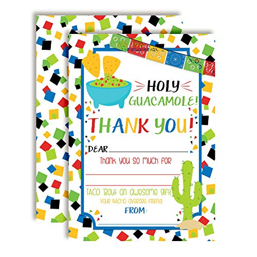 Holy Guacamole Chips & Dip Fiesta Celebration Thank You Notes, Ten 4