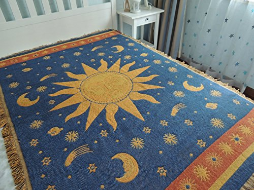 Moon And Stars Area Rug For Spaced Out Funk