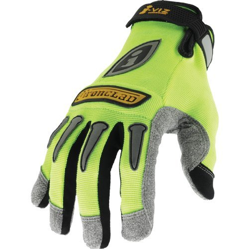 Ironclad IVG-02-S I-Viz Reflective Gloves, Reflective Lime Green, Small by Ironclad -