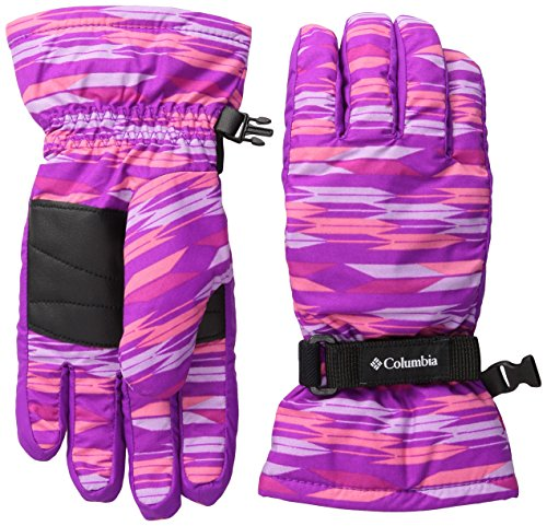 Nylon Print Gloves - Columbia Big Girls Youth Core Glove, Bright Plum Arrows Print, L
