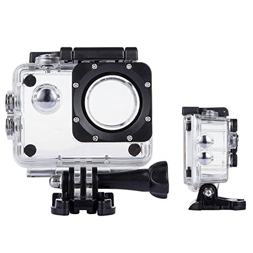 TEKCAM Action Camera Waterproof Case Underwater Protective Housing Case Compatible with AKASO EK7000 EK5000/ DBPOWER EX5000/ WiMiUS Q1Q2/ Vemont/APEMAN/EKEN H9R 4K Sports Camera