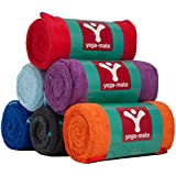 Yoga Towel by YogaMate - Premium Skidless Bikram Towels, Sized Perfectly for Your Mat - Ultra Absorbent Microfiber, Ideal for Hot Yoga, Pilates, Sports, and More! 100% Satisfaction Guarantee!