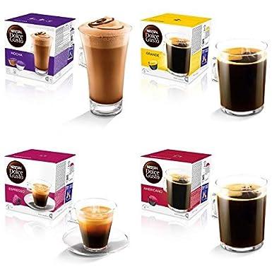 Nescafe Dolce Gusto - Cápsulas de café para cafetera Nescafe Dolce Gusto (64 unidades,