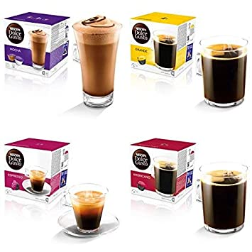Nescafe Dolce Gusto 4 Flavour Variety Black Coffeepack (64 ...