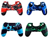 4 Pack of Silicone PS4 Controller Skin,High Quality Premium Super Grip Protective Skin Case Cover for Sony Playstation4 PS4 Controller