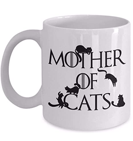 Juego de tronos Parodia de Daenerys Madre de gatos gracioso taza ...