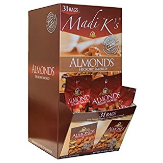 Madi K's Hickory Smoked Almonds, 31 Count, Package may vary