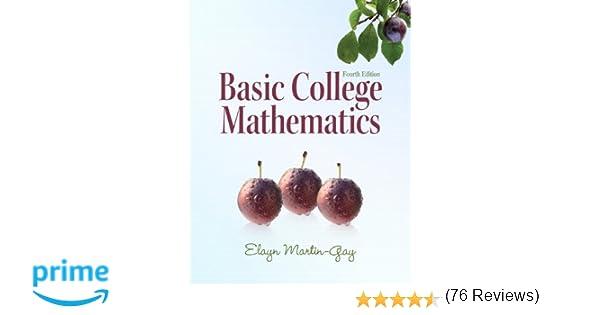 Amazon.com: Basic College Mathematics (4th Edition) (9780321649409 ...