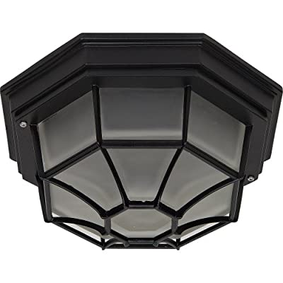 Yosemite Home Decor 3902LIORB Serge 2-Light Incandescent Exterior Flush Mount with Frosted Shade