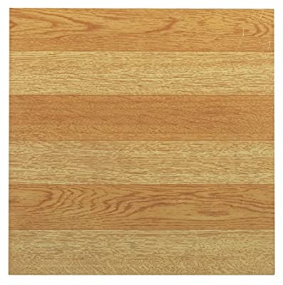 Achim Home Furnishings FTVWD21445 Tivoli Self Adhesive Vinyl Tiles, 12 x 12-Inches, Light Oak, 45 Pack