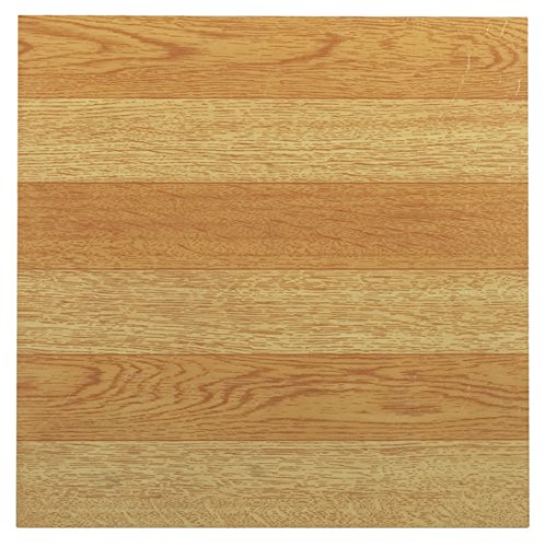 Achim Home Furnishings FTVWD21445 Tivoli Self Adhesive Vinyl Tiles, 12 x 12-Inches, Light Oak, 45 (Light Oak Flooring)