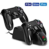 Best Charger With Stable Charging - PS4 Dual USB Controller Charger KINGTOP PlayStation 4 Review