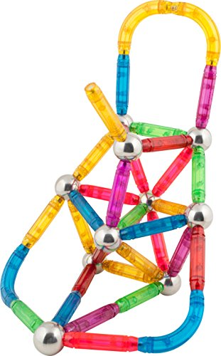 44 Piece Cosmic Voyage Set X-Bar Translucent Magnetic Bars and Steel Spheres