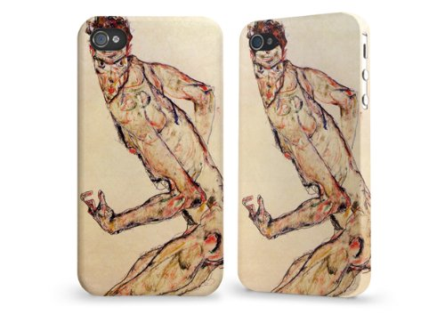 "Hülle / Case / Cover für iPhone 4 und 4s - ""Fighter"" by Egon Schiele"