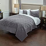 Rizzy Home QLTBQ4192CLGY1692 Quilt, Charcoal Grey, King