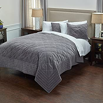 Double White QE Home Bamboo-Blend 1pc Duvet Cover