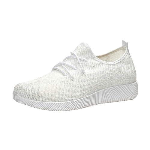Zapatillas de Exterior Running para Mujer Otoño Invierno 2018 Moda Casual Zapatos Escolares de Plano Dama