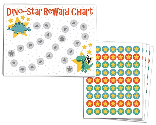 Chart Good Behavior Reward (Elegant Signs Toddler Reward Chart for One or Multiple Kids with Stickers for Good Behavior or Chore - 8.5 x 11 (Pack of 10 charts with 252 star stickers))