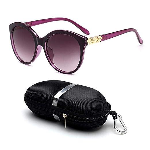 AOLVO Gafas de Sol polarizadas Redondas Vintage Retro UV400 ...