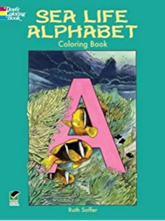 Sea Life Alphabet Coloring Book Dover Nature
