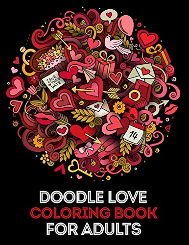 Doodle Love Coloring Book for Adults: Mind calming and stress relief Adult Coloring Book with extra pages (Mandala pattern within Cake and Ice cream & Animal Mandalas)