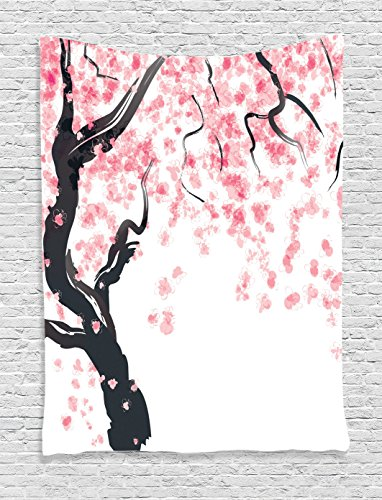 House Decor Tapestry Wall Hanging by Ambesonne, Japanese