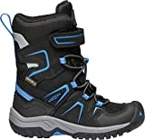 KEEN - Kid's Levo Waterproof, Insulated Snow Boots for Winter, Black/Baleine Blue, 10 M US Big Kid