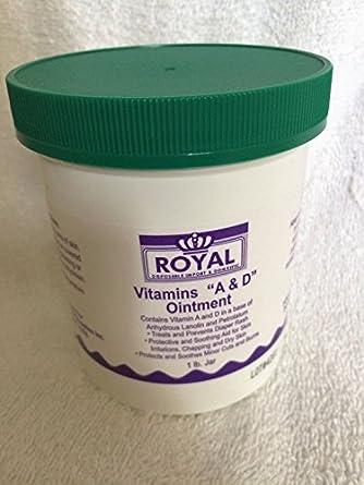 Royal adolb Vitaminas A y D pomada tarro de 1 Lb. (Pack de 6