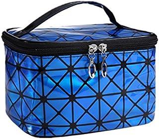HOUHOUNNPO Laser Sac cosmétique Sac de Rangement Sac Maquillage Sac Pochette pour Les Femmes (Bleu) Pochette Cosmétique Femme