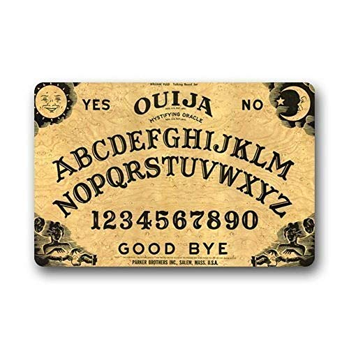 NfuquyamDoormat Hi,Doormat Quick Drying Waterhog Door Mat Personalize with Ouija Board Doormat 23.6 x 15.7 Inch Bathroom Kitchen Decor Area Rug/Floor Mat 23.6 X 15.7 Inch