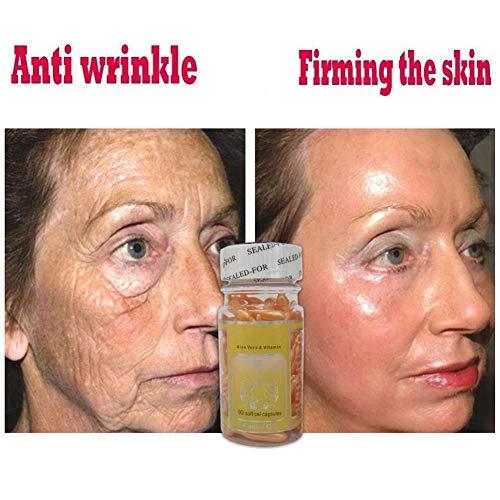 Ocamo Vitamin E Soft Gels, 90 Grain/Bottle Vitamin E Hyaluronic Acid Face Serum Skin Care Moisturize Whitening Anti-Aging Essence