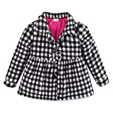 Mud Kingdom Toddler Girl Fleece Jacket Coat Plaid 24 Months