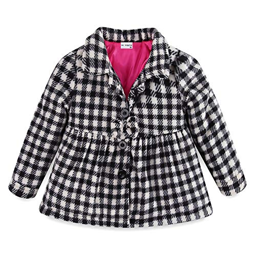 Mud Kingdom Toddler Girl Fleece Jacket Coat Plaid 24 Months by Mud Kingdom