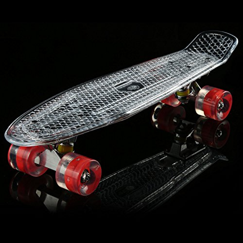 22 Quot Cruiser Crystal Clear Board With Led Light Up Retro
