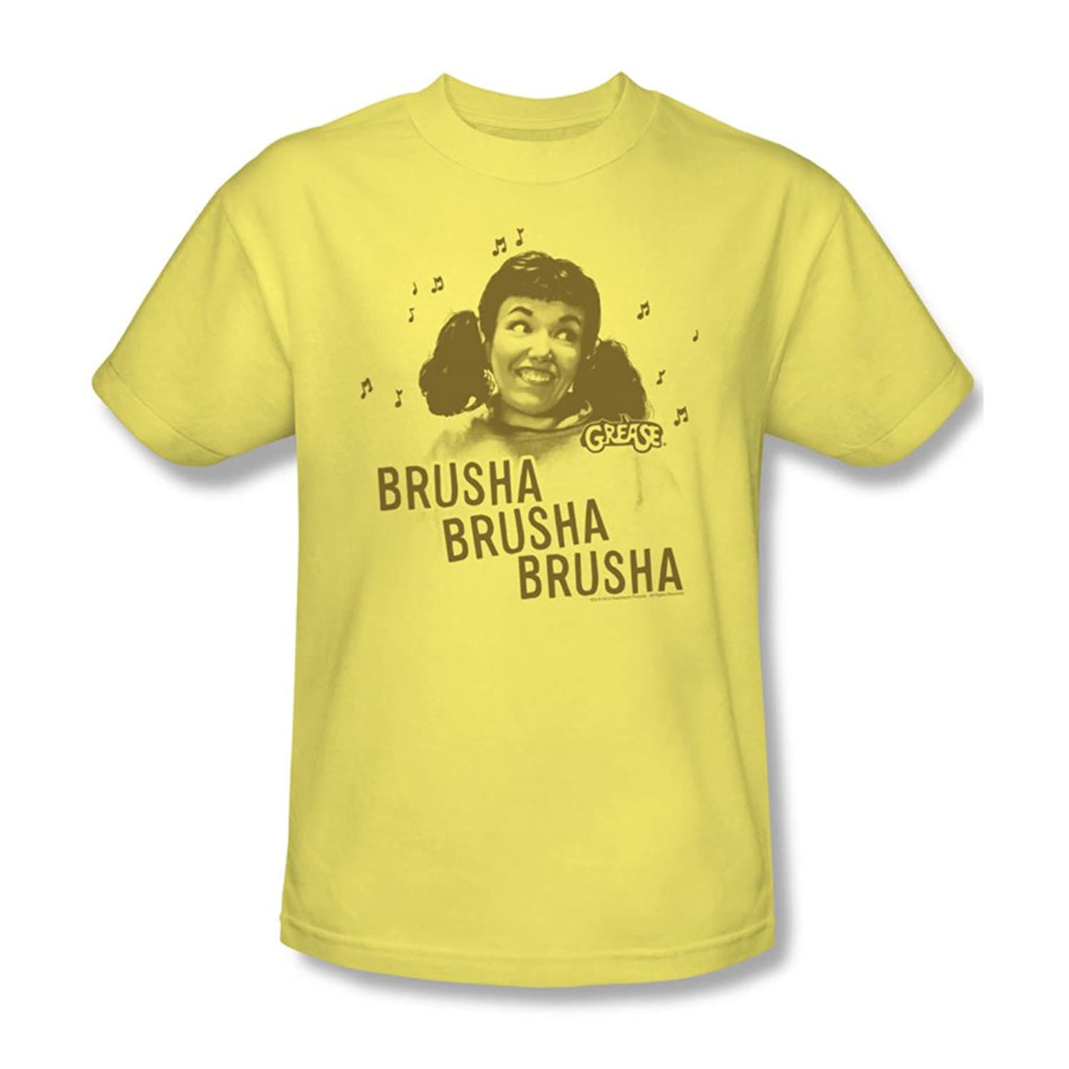 Grease - Mens Brusha Brusha Brusha T-Shirt In Banana