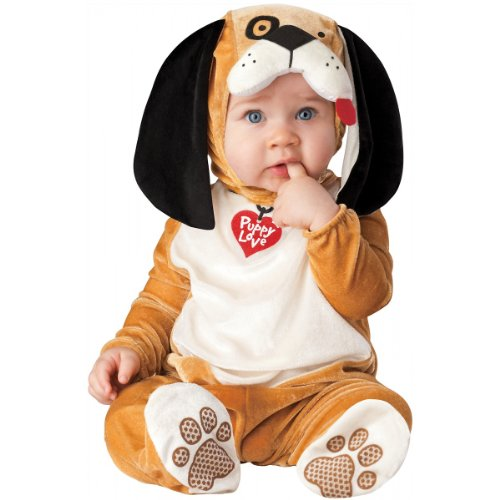 InCharacter Costumes Baby's Puppy Love Costume, Tan/White/Black, Small -