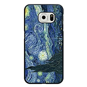 Glamorous Samsung Galaxy S6 Edge Cover,Van Gogh Logo Mobile Case Attractive Hard Image