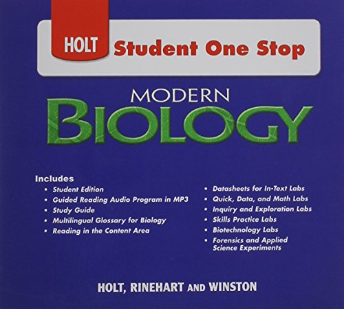 Holt Student One Stop: Modern Biology
