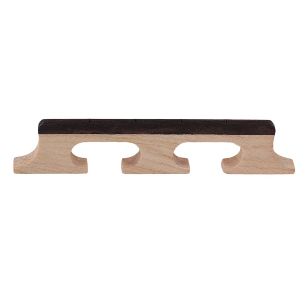 Steg für Banjo/ Ukulele mit 4Saiten, mit Rückenstück aus Ebenholz, Braun, von SGerste Unbekannt