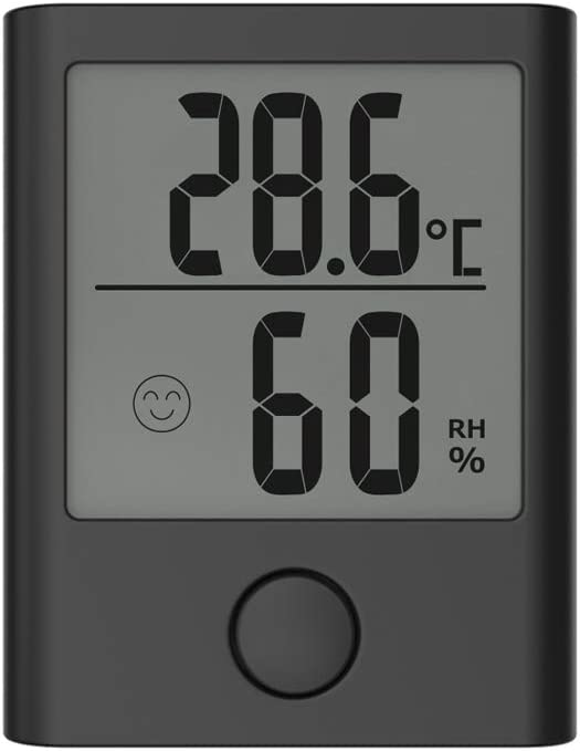 BALDR Digital Hygrometer & Indoor Thermometer - Accurate Humidity Gauge Indicator, Room Temperature and Humidity Monitor - Mini Hygrometer Meter for Home, Office, Greenhouse, and More